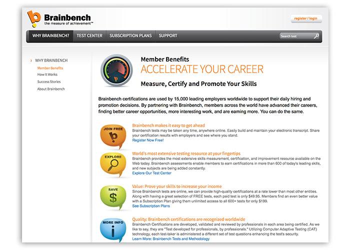 Brain Bench Website